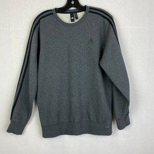 ADIDAS Gray Fleece-Lined Sweatshirt